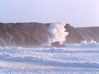 Waves crashing on the coast, Pointe De Pen-Hir, Camaret-Sur-Mer, Finistere, Brittany, France by Panoramic Images - various sizes