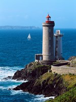 Lighthouse at the coast, Phare du Petit Minou, Goulet de Brest, Finistere, Brittany, France by Panoramic Images - various sizes, FulcrumGallery.com brand