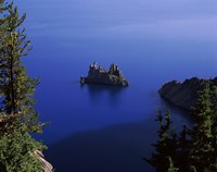 Phantom Ship island viewed from Sun Notch overlook, Crater Lake, Crater Lake National Park, Oregon, USA by Panoramic Images - various sizes