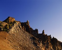 Hillman Peak crags at sunrise, Crater Lake National Park, Oregon, USA by Panoramic Images - various sizes