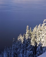 Winter at South Rim, Crater Lake National Park, Oregon by Panoramic Images - various sizes