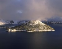 Island in a lake, Wizard Island, Crater Lake, Crater Lake National Park, Oregon, USA by Panoramic Images - various sizes