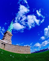 Low angle view of a statue, Statue Of Liberty, Manhattan, Liberty Island, New York City, New York State, USA Fine Art Print