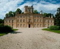 Facade of a castle, Chateau d'Avignon, Saintes-Maries-De-La-Mer, Bouches-Du-Rhone, Provence-Alpes-Cote d'Azur, France Fine Art Print