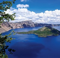 Crater Lake at Crater Lake National Park, Oregon by Panoramic Images - various sizes, FulcrumGallery.com brand