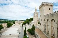 Palace in a city, Notre-Dame Des Domes, Le Palais des Papes, Palais Des Papes,  Provence-Alpes-Cote d'Azur, France Fine Art Print