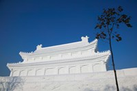 Replica of the Forbidden City Made of Snow, Harbin International Sun Island Snow Sculpture Art Fair, Harbin, China Fine Art Print