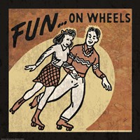 Fun On Wheels Framed Print
