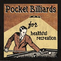 Pocket Billiards by Erin Clark - various sizes