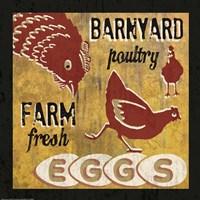 Barnyard Poultry Framed Print