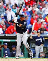 Carlos Gomez 2014 Batting Action Fine Art Print