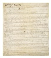 Constitution of the United States I Fine Art Print