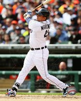 Victor Martinez 2014 batting Fine Art Print