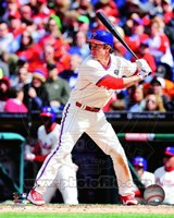 Chase Utley 2014 Action Fine Art Print