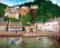 Clovelly Harbor Fine Art Print