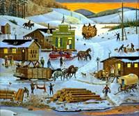 Logging Camp Fine Art Print