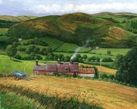 The Blue Hay Cart Fine Art Print