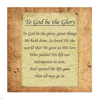 To God Be The Glory Fine Art Print