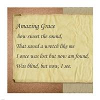 Amazing Grace Parchment Fine Art Print