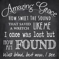 Amazing Grace Chalkboard Framed Print