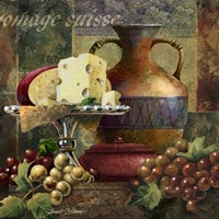 Cheese & Grapes II by Janet Stever - various sizes