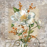White Peony Fantasy by Janet Stever - various sizes