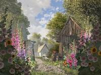 The Garden Cottage Fine Art Print