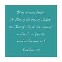 Revelation 5:5 - blue by Veruca Salt - various sizes