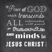 The Peace of God - black Fine Art Print
