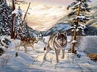 Winter Hunt Fine Art Print