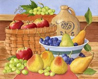 Apples, Grapes & Pears Fine Art Print