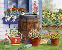 Rain Barrel And Window Box by Maureen Mccarthy - various sizes