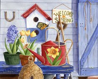 Red Watering Can Fine Art Print