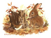 Wren & Bunny Fine Art Print