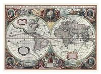 Nova Totius Terrarum Orbis Tabula Fine Art Print