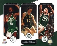 Bill Russell, John Havlicek, & Larry Bird Legacy Collection Fine Art Print