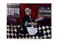 French Waiter II Fine Art Print