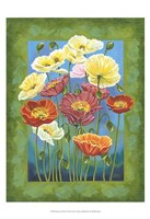 "Bouquet in Border I by Carolee Vitaletti - 13"" x 19"""
