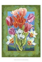 "Bouquet in Border III by Carolee Vitaletti - 13"" x 19"""