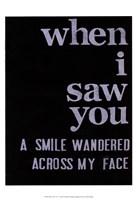 When I Saw You... II Fine Art Print