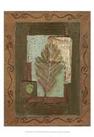 "Leaf Quartet IV by Wendy Russell - 13"" x 19"""