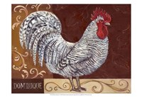 Rustic Roosters I Fine Art Print