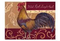 Rustic Roosters II Fine Art Print