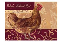 Rustic Roosters III Fine Art Print