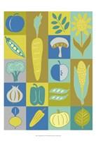 """Veggie Blocks II by Chariklia Zarris - 13"""" x 19"""""""
