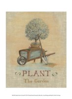 "Garden Series in Linen III by Wendy Russell - 10"" x 13"", FulcrumGallery.com brand"