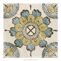 "Non-Embellished Batik Square I by Chariklia Zarris - 18"" x 18"""