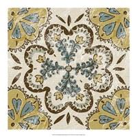"Non-Embellished Batik Square II by Chariklia Zarris - 18"" x 18"""