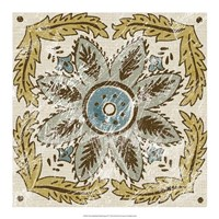 "Non-Embellished Batik Square IV by Chariklia Zarris - 18"" x 18"""