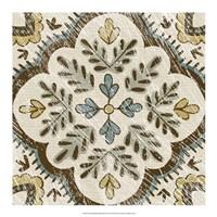 "Non-Embellished Batik Square IX by Chariklia Zarris - 18"" x 18"""